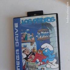 Videojuegos y Consolas: JUEGO MEGADRIVE LOS PITUFOS EN CAJA CON MANUAL.. Lote 218640521
