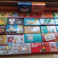 Videojuegos y Consolas: 26 CAJAS REPRO NUEVAS GAME AND WATCH (NINTENDO), AÑOS 80. ZELDA, MARIO, RETRO CONSOLAS Y MAQUINITAS. Lote 218815450