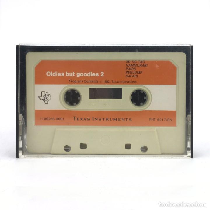 TI99 TEXAS INSTRUMENTS OLDIES BUT GOODIES 2 3D TIC TAC HAMMURABI PAIRS PEGJUMP SAFARI 1982 CASSETTE (Juguetes - Videojuegos y Consolas - Otros descatalogados)