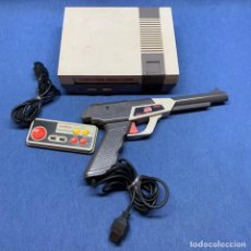 Videojuegos y Consolas: COMPUTER VIDEO GAME TV GAME CONSOLE MODEL: DY-636-42 PAL-B Q-16A MADE IN TAIWAN + PISTOLA + 1 MANDO. Lote 220081507