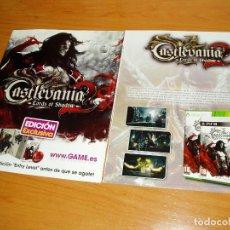 Videojuegos y Consolas: CASTLEVANIA LORDS OF SHADOW 2 DOBLE PAGINA PUBLICIDAD. Lote 220688046