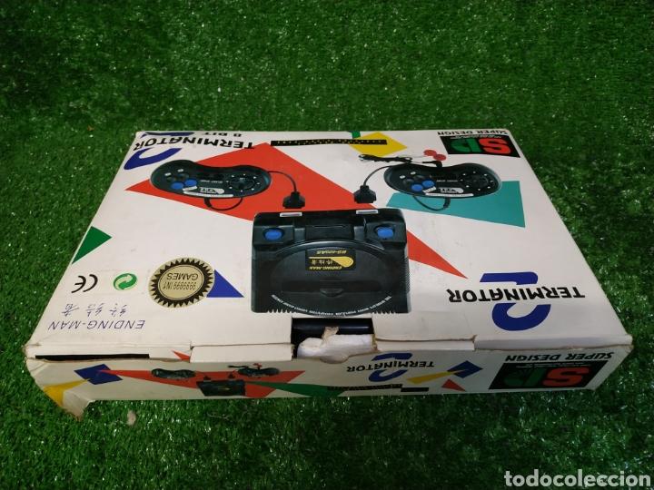 Videojuegos y Consolas: Consola Terminator 2 ending- man 8 bit seminueva super design completa made in Japan - Foto 2 - 221286240