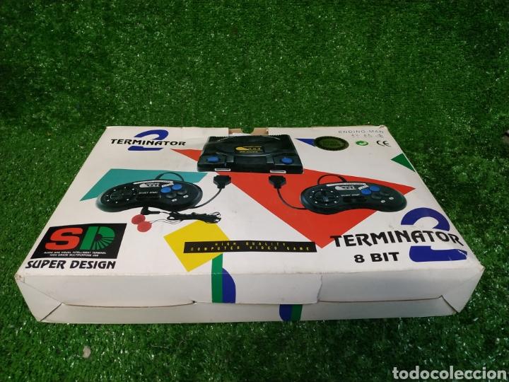 Videojuegos y Consolas: Consola Terminator 2 ending- man 8 bit seminueva super design completa made in Japan - Foto 3 - 221286240