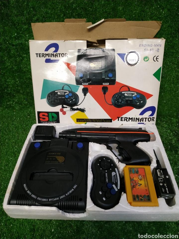 Videojuegos y Consolas: Consola Terminator 2 ending- man 8 bit seminueva super design completa made in Japan - Foto 5 - 221286240
