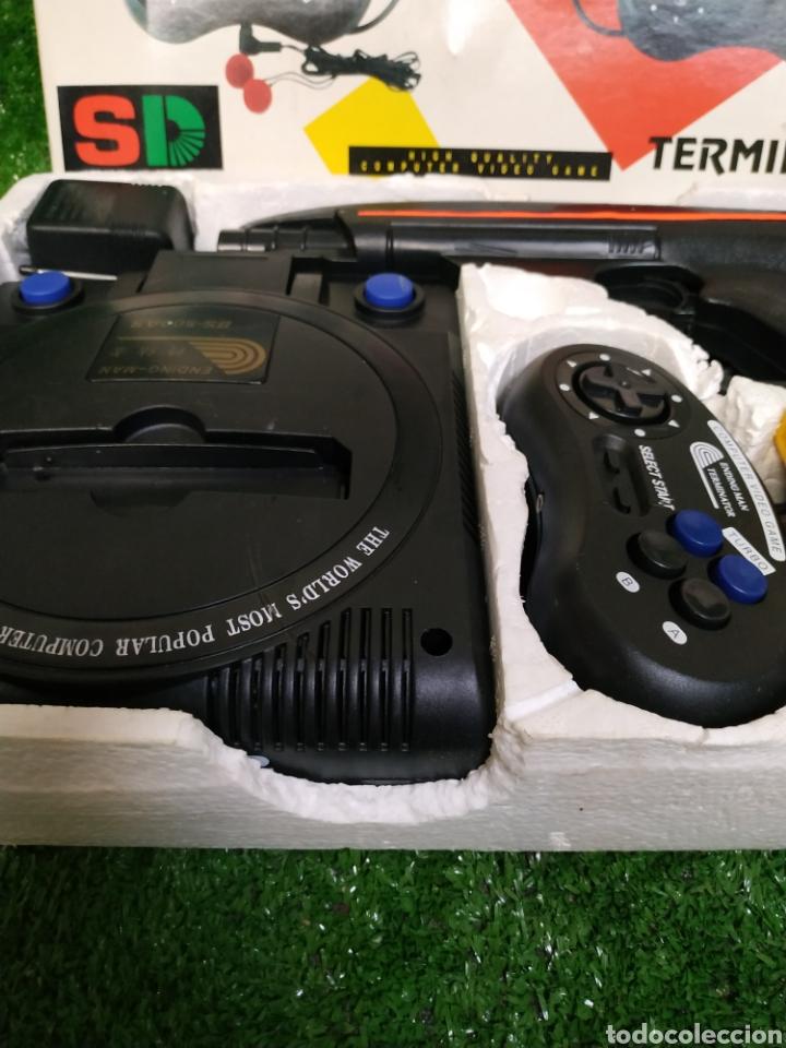 Videojuegos y Consolas: Consola Terminator 2 ending- man 8 bit seminueva super design completa made in Japan - Foto 8 - 221286240
