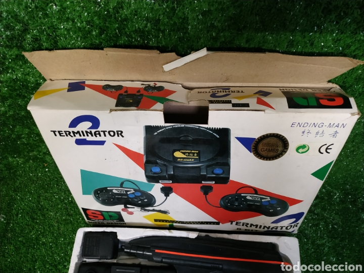Videojuegos y Consolas: Consola Terminator 2 ending- man 8 bit seminueva super design completa made in Japan - Foto 10 - 221286240