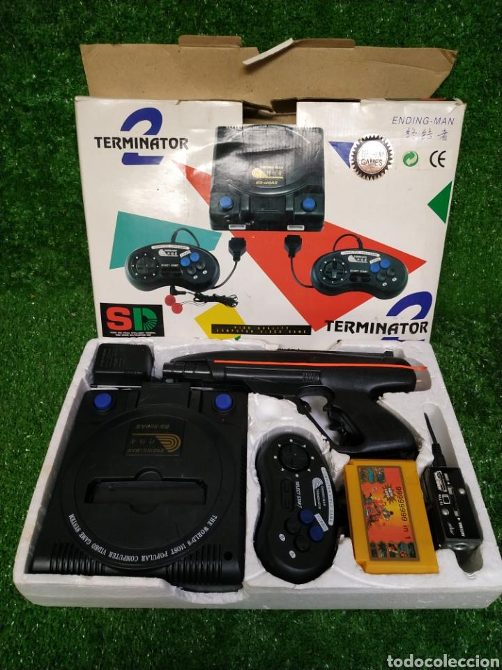Videojuegos y Consolas: Consola Terminator 2 ending- man 8 bit seminueva super design completa made in Japan - Foto 13 - 221286240