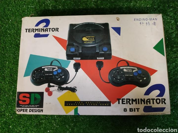 CONSOLA TERMINATOR 2 ENDING- MAN 8 BIT SEMINUEVA SUPER DESIGN COMPLETA MADE IN JAPAN (Juguetes - Videojuegos y Consolas - Otros descatalogados)