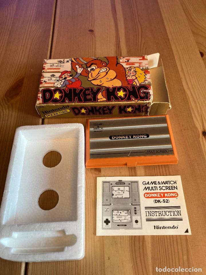 Videojuegos y Consolas: Game Watch Nintendo Donkey Kong, multi screen,coleccion Pocket Size doble panatalla - Foto 5 - 225385870