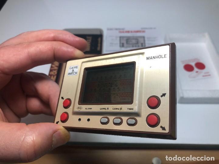 Videojuegos y Consolas: Game Watch Nintendo Manhole ,coleccion Gold - Foto 5 - 225388585