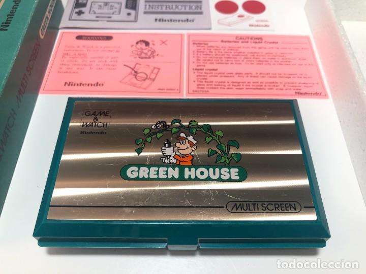 Videojuegos y Consolas: Game Watch Nintendo Green House francesa doble pantalla multi screen - Foto 2 - 270528888