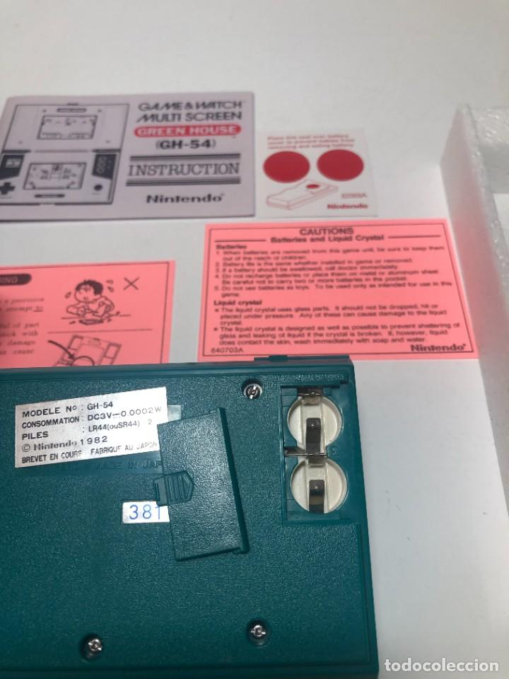 Videojuegos y Consolas: Game Watch Nintendo Green House francesa doble pantalla multi screen - Foto 12 - 270528888