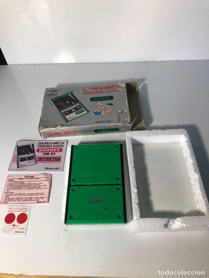 Videojuegos y Consolas: Game Watch Nintendo Popeye Panorama Screen ,juego electronico - Foto 8 - 225392045