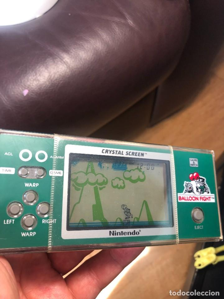 Videojuegos y Consolas: Game Watch Nintendo Balloon Fight Crystal screen, cristal screen ,juego electronico - Foto 5 - 226157025
