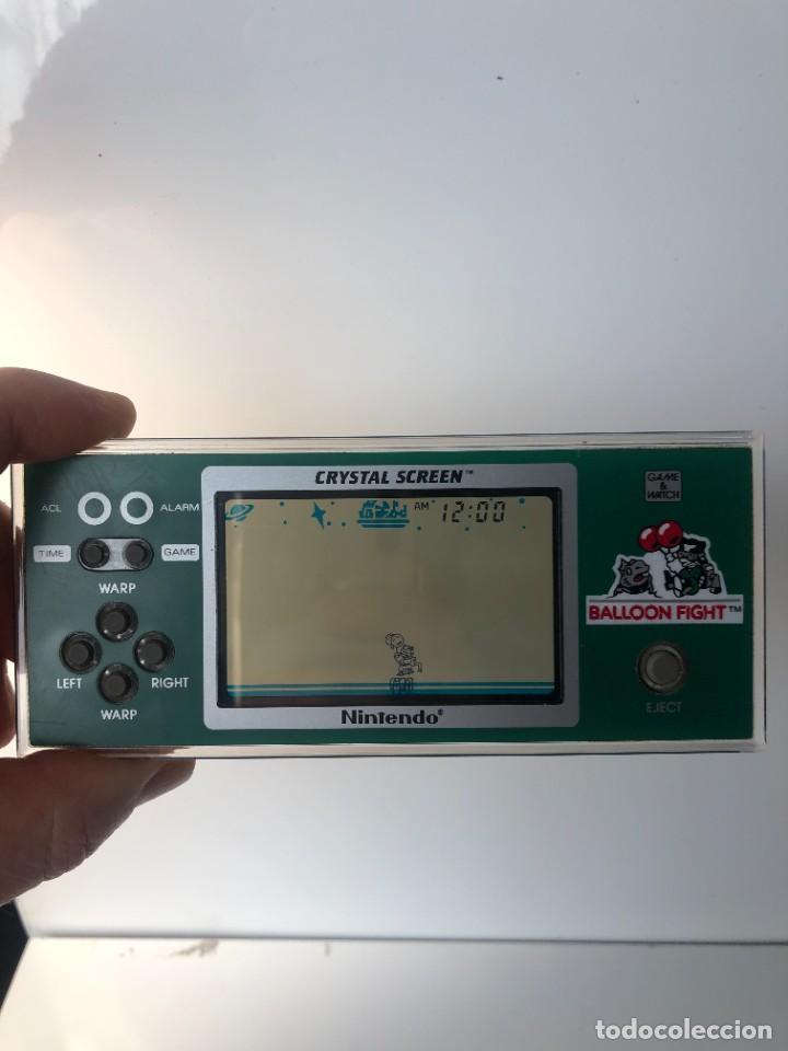 Videojuegos y Consolas: Game Watch Nintendo Balloon Fight Crystal screen, cristal screen ,juego electronico - Foto 8 - 226157025