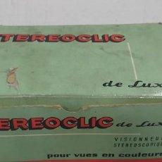Videojuegos y Consolas: ANTIGUO PROYECTOR VISOR DE DIAPOSITIVAS STEREOCLIC DE LUXE. Lote 226801135