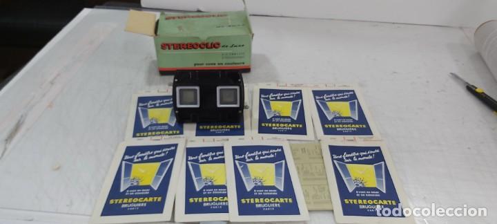 Videojuegos y Consolas: ANTIGUO PROYECTOR VISOR DE DIAPOSITIVAS STEREOCLIC DE LUXE - Foto 4 - 226801135