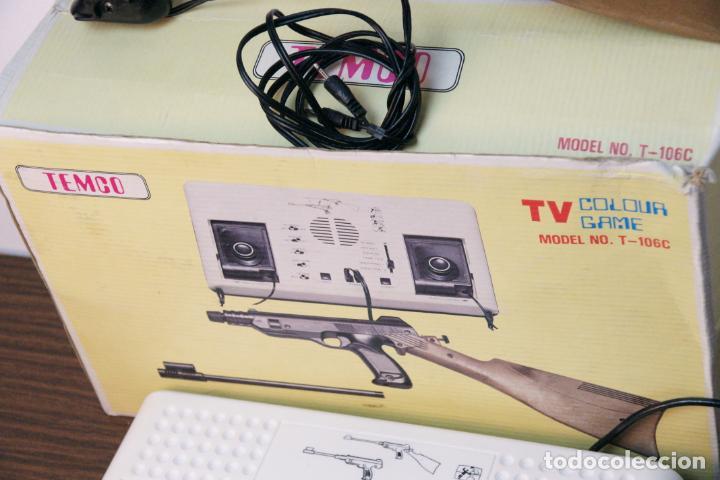 Videojuegos y Consolas: Antigua consola Temco tv color game. Model no. T-106C. 6 juegos. Caja original. años 70 - Foto 3 - 229822555