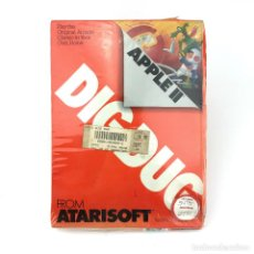 Videojuegos y Consolas: DIG DUG PRECINTADO. BOX APPLE II II+ IIE 5¼ DISKETTE FLOPPY DISK NAMCO ATARI STRANGER THINGS CLASICO. Lote 232081050