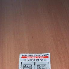 Videojuegos y Consolas: NINTENDO MAQUINA GAME&WATCH MULTISCREEN JUEGO MARIO BROS MW-56 ORIGINAL MANUAL INSTRUCCIONES -R3696.. Lote 233067180