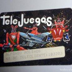 Videojuegos y Consolas: TARJETA DE SOCIO - ANTIGUA - TELE JUEGOS TELEJUEGOS - CONSOLAS VINTAGE VIDEOJUEGOS. Lote 235695975