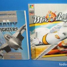 Videojuegos y Consolas: LOTE 2 MANUALES JUEGO PC U.S NAVY FIGTHERS + MIG ALLEY BUEN ESTADO. Lote 244934355