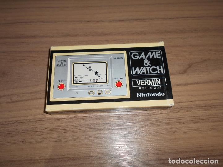 Videojuegos y Consolas: VERMIN Nintendo GAME WATCH G&W Todo ORIGINAL - Foto 2 - 245987555