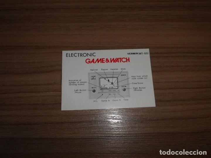 Videojuegos y Consolas: VERMIN Nintendo GAME WATCH G&W Todo ORIGINAL - Foto 4 - 245987555