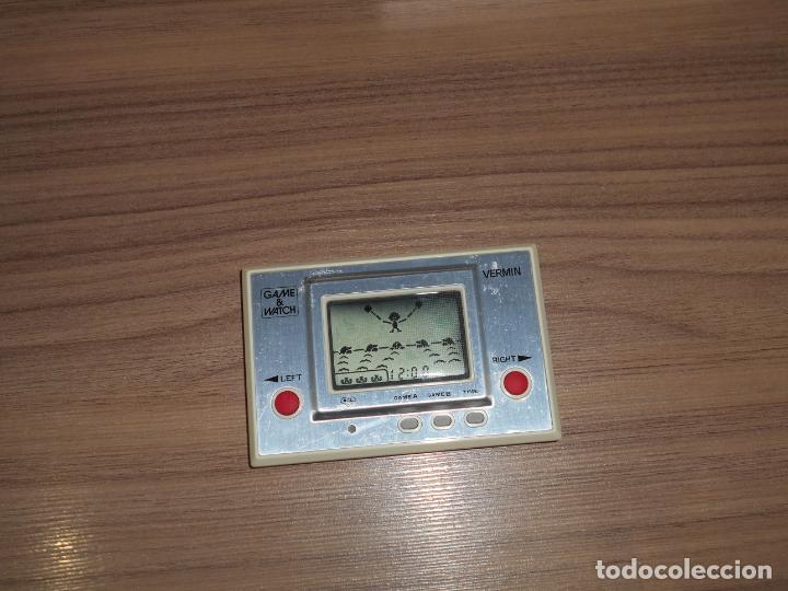 Videojuegos y Consolas: VERMIN Nintendo GAME WATCH G&W Todo ORIGINAL - Foto 5 - 245987555