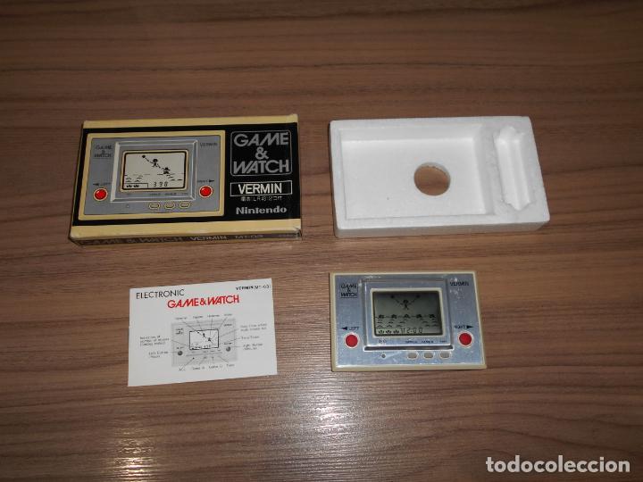 VERMIN NINTENDO GAME WATCH G&W TODO ORIGINAL (Juguetes - Videojuegos y Consolas - Otros descatalogados)
