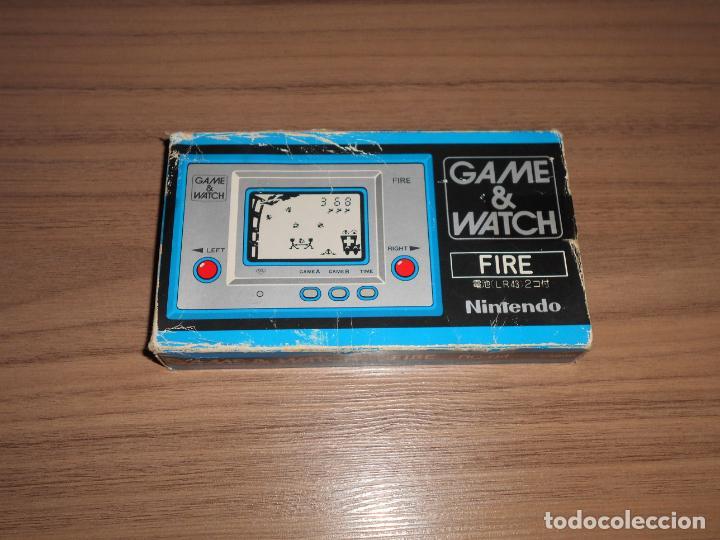 Videojuegos y Consolas: FIRE Nintendo GAME WATCH G&W Todo ORIGINAL - Foto 2 - 245987895