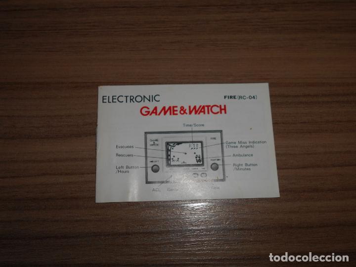 Videojuegos y Consolas: FIRE Nintendo GAME WATCH G&W Todo ORIGINAL - Foto 7 - 245987895