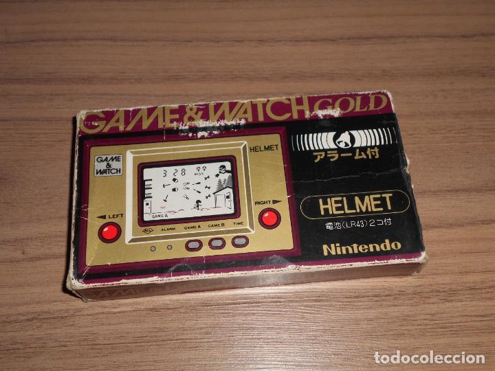 Videojuegos y Consolas: HELMET Nintendo GAME WATCH G&W Todo ORIGINAL - Foto 2 - 245988975