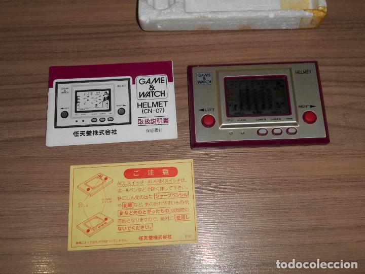 Videojuegos y Consolas: HELMET Nintendo GAME WATCH G&W Todo ORIGINAL - Foto 5 - 245988975