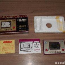 Videojuegos y Consolas: HELMET NINTENDO GAME WATCH G&W TODO ORIGINAL. Lote 245988975