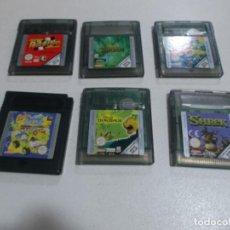 Videojuegos y Consolas: LOTE, GAME BOY COLOR,6 JUEGOS LEER TITULOS Y VER FOTOS. Lote 249216630