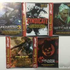 Videojuegos y Consolas: GUIAS DE JUEGO GEARS OF WAR 3, UNCHARTED 3, THE WITCHER 2,STAR WARS THE OLD REPUBLIC, SYNDICATE. Lote 251927775