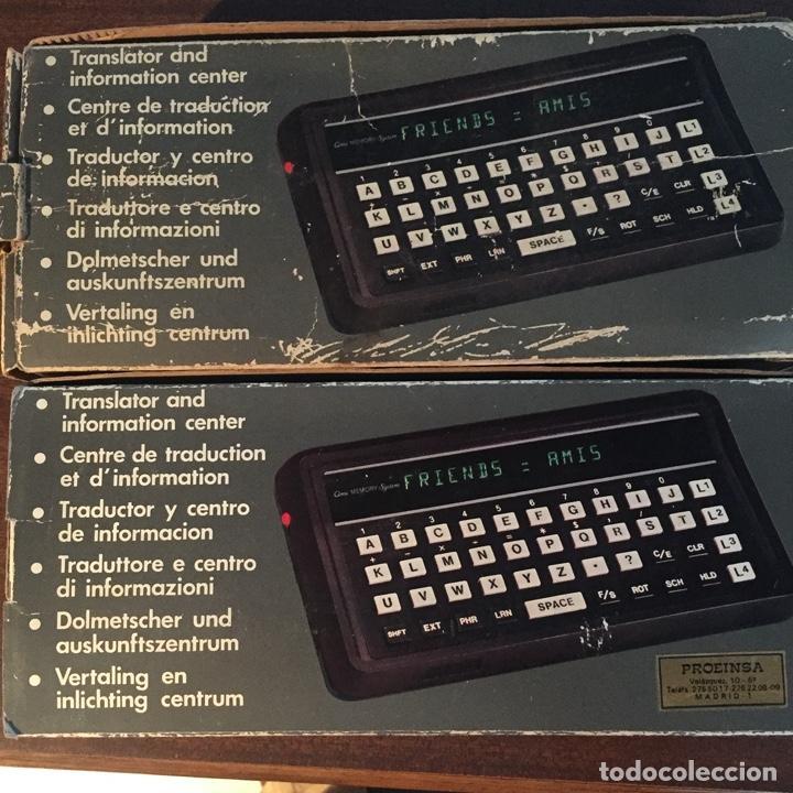 Videojuegos y Consolas: 2 UNIDADES - TRADUCTORA DE IDIOMAS AMI - MEMORY SYSTEM - VINTAGE - PROEINSA - Foto 2 - 252649280