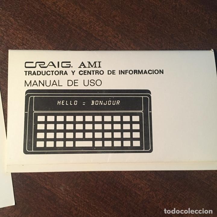 Videojuegos y Consolas: 2 UNIDADES - TRADUCTORA DE IDIOMAS AMI - MEMORY SYSTEM - VINTAGE - PROEINSA - Foto 4 - 252649280