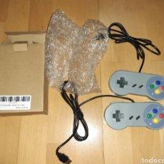 Videojuegos y Consolas: PACK 2 MANDOS TIPO SNES CON CABLE USB, PARA REPRODUCTORES COMPATIBLES. VER DESCRIPCIÓN. Lote 269975268