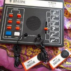 Videojuegos y Consolas: CONSOLA BINATONE CON DOS MANDOS TV MASTER 4 PLUS AÑOS 70. Lote 259863580