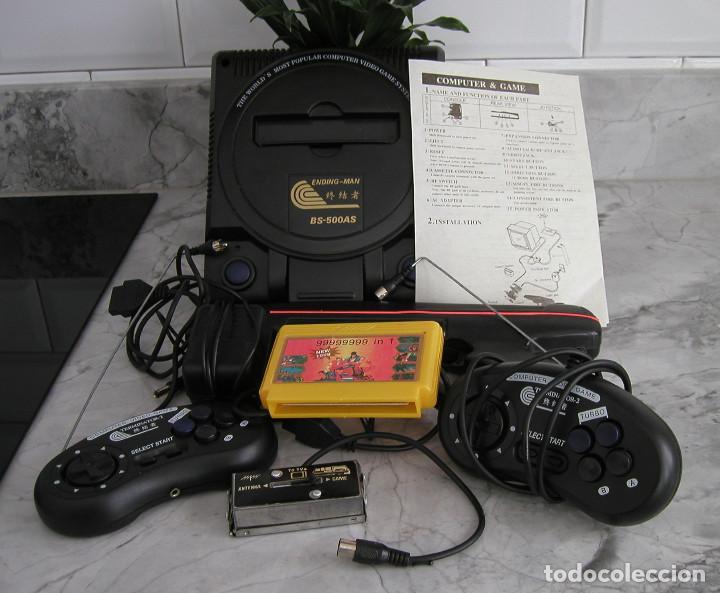 Videojuegos y Consolas: CONSOLA ENDING MAN BS 500AS TERMINATOR 2 8 BITS CON CARTUCHO DE 99999999 EN 1 AÑO 1999 PERFECTA - Foto 2 - 259931275