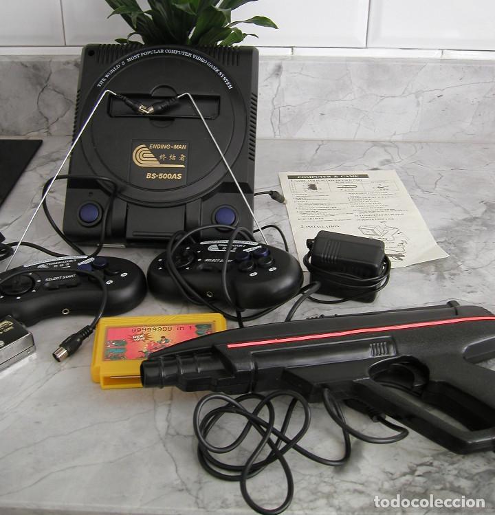 Videojuegos y Consolas: CONSOLA ENDING MAN BS 500AS TERMINATOR 2 8 BITS CON CARTUCHO DE 99999999 EN 1 AÑO 1999 PERFECTA - Foto 3 - 259931275