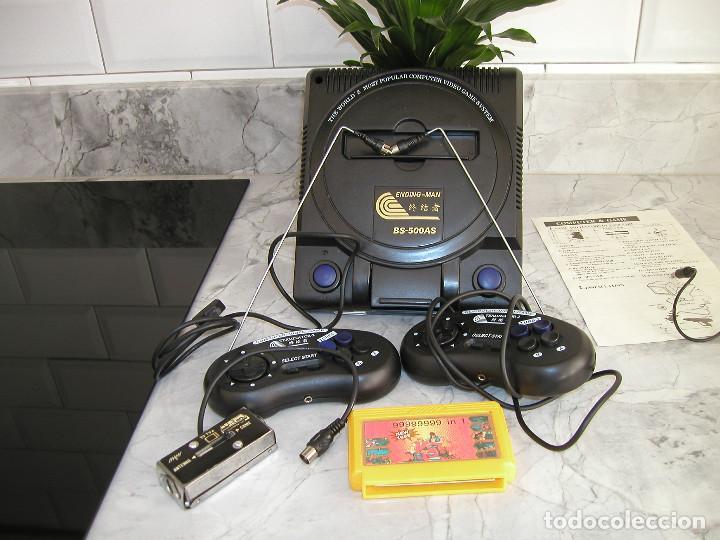 Videojuegos y Consolas: CONSOLA ENDING MAN BS 500AS TERMINATOR 2 8 BITS CON CARTUCHO DE 99999999 EN 1 AÑO 1999 PERFECTA - Foto 4 - 259931275