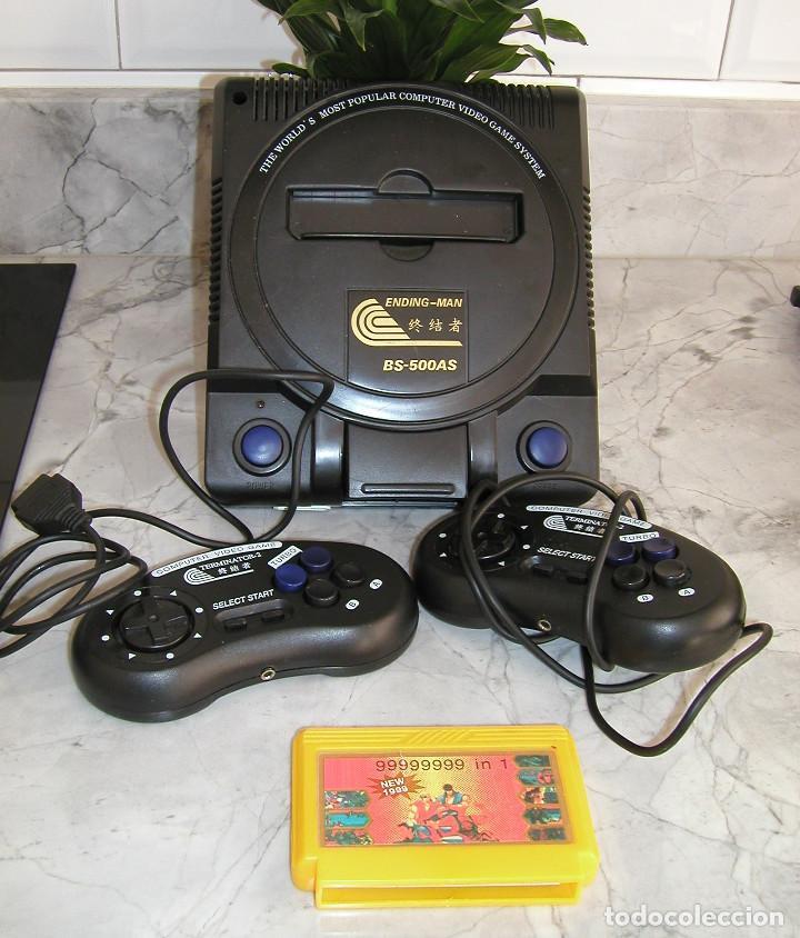 Videojuegos y Consolas: CONSOLA ENDING MAN BS 500AS TERMINATOR 2 8 BITS CON CARTUCHO DE 99999999 EN 1 AÑO 1999 PERFECTA - Foto 5 - 259931275