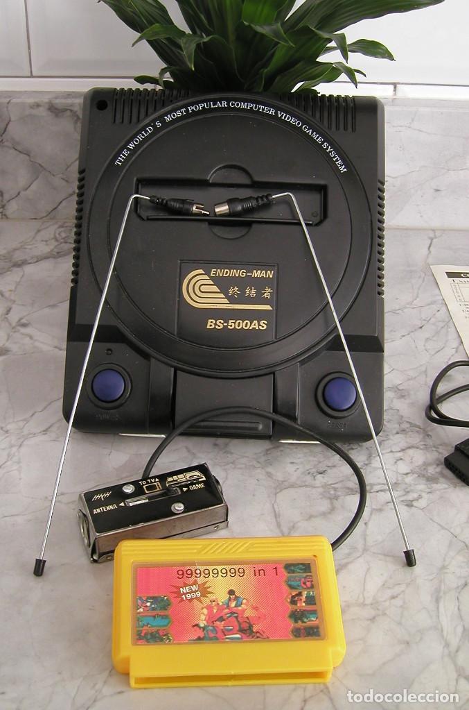 Videojuegos y Consolas: CONSOLA ENDING MAN BS 500AS TERMINATOR 2 8 BITS CON CARTUCHO DE 99999999 EN 1 AÑO 1999 PERFECTA - Foto 8 - 259931275