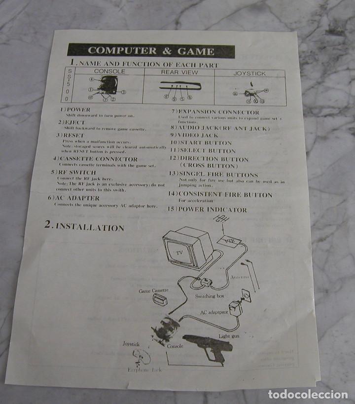 Videojuegos y Consolas: CONSOLA ENDING MAN BS 500AS TERMINATOR 2 8 BITS CON CARTUCHO DE 99999999 EN 1 AÑO 1999 PERFECTA - Foto 9 - 259931275