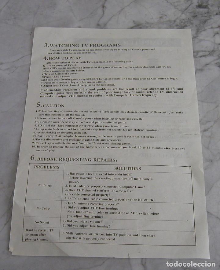 Videojuegos y Consolas: CONSOLA ENDING MAN BS 500AS TERMINATOR 2 8 BITS CON CARTUCHO DE 99999999 EN 1 AÑO 1999 PERFECTA - Foto 10 - 259931275
