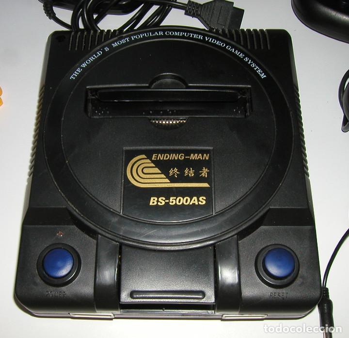 Videojuegos y Consolas: CONSOLA ENDING MAN BS 500AS TERMINATOR 2 8 BITS CON CARTUCHO DE 99999999 EN 1 AÑO 1999 PERFECTA - Foto 11 - 259931275