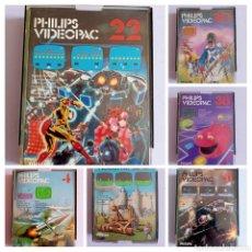 Videogiochi e Consoli: 6 VIDEOJUEGOS PHILIPS VIDEOPAC , AÑOS 80. Lote 262200570